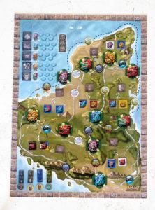 Ahau - game board fully set up